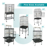 Multiple Sizes Durable Steel Bird Cage Best Place for Birds Large Parrot Cage