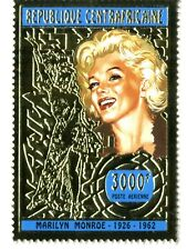 Marilyn Monroe 1926-1962  Centroafricane serie oro stamps sellos