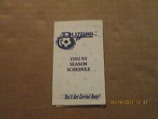 NPSL Buffalo Blizzard Vintage Defunct Circa 1992-93 Team Logo Pocket Schedule