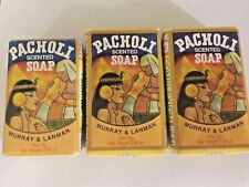 Pacholi Scented Soap by Murray & Lanman 3.3 Oz Patchouli Oil Three 3 Soaps