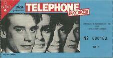 RARE / TICKET BILLET CONCERT - TELEPHONE : LIVE A LYON 1984 / AUBERT BERTIGNAC