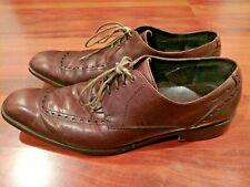 CALVIN KLEIN ELLIS dress CALF leather Oxford Men's Shoes brown size 10