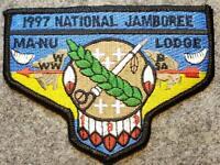 1997 National Jamboree Lodge 133 Ma-Nu BLK BDR(S40) Last Frontier Council OA/BSA