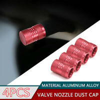 4Pcs Car Tyre Rim Valve Wheel Stem Air Port Dust Caps Cover Auto Accessories Red