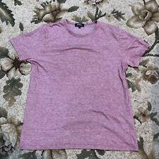 APC Paris Micro Stripes Mens Crewneck T Shirt Short Sleeve sz Large