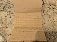 Ephemera Letter - 1888 - Dear Sister - Great Handwritten Content - Must Read!