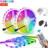 5m 32.8ft RGB 5050 Flexible Led Strip Lights SMD 44 Key Remote 12V DC Power Kit