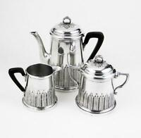 CONTINENTAL BACHELOR COFFEE SET Silver Plated ART DECO c1930