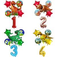 6Pcs/Set Big Dinosaur Foil Balloons Helium Balloon Children Birthday Party