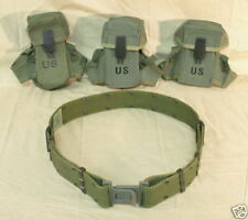 US MILITARY Lot Large Web Belt 3 Ammo Pouches NICE