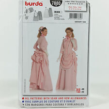 Burda 7880 Womens Plus Size Victorian Bustle Skirt Costume Sz 10 22 Circa 1888