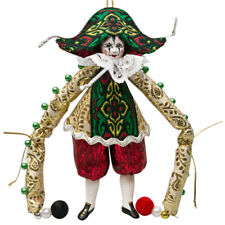 "5.5"" Lelio Romantic Clown Collectible Doll Handmade Ornament Commedia dell'Arte"