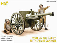 HaT 8158 WWI US Artillery with 75mm Cannon 1/72 Model kit 1 SPRUE 1 GUN 12 CREW