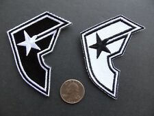 2 FAMOUS STARS & STRAPS Rider Biker Racing Logo Applique Iron on shirt Patch