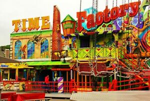 FUNFAIR RIDES CARNIVAL CANVAS PICTURE POSTER PRINT UNFRAMED 6756