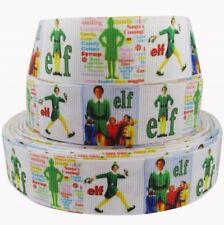 "BTY 1"" Christmas Movie Elf Grosgrain Ribbon Hair Bows Party Lanyards Lisa"