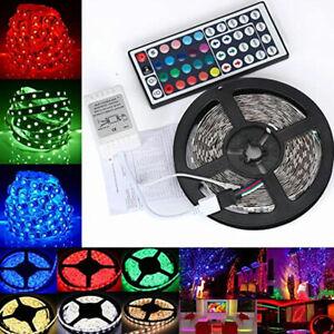 5M LED Strip Light 5050 RGB Colour Changing Tape Rope Remote Kitchen TV Lighting