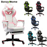 Office Chair Adjustable Ergonomic Racing Gaming Swivel PU Leather Computer Desk