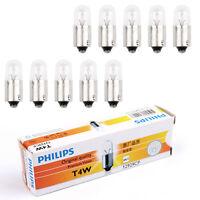 10PCS Genuine PHILIPS 12929 12V 4W T4W BA9s Premium Clignotants Lampe Ampoules