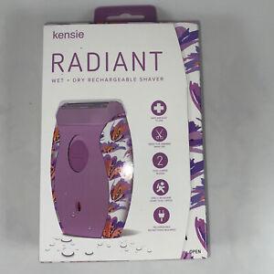 Radiant Wet Dry Rechargeable Shaver Kensie Razor  Women's Teens NIB Purple Plus