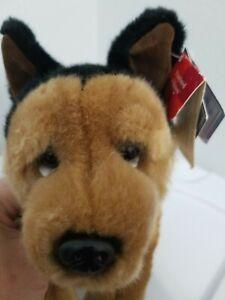 "Russ German Shepherd Dog & Collar Plush Stuffed Animal Toy Friend 13"" With Tags"