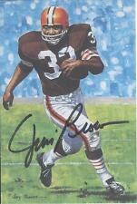 Jim Brown autographed signed Goal Line Art Card
