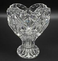 Vintage Bleikristall Hand Cut 24% Lead Crystal Heart Vase from West Germany