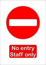 no entry staff only sticker vinyl shop office door decal self adhesive