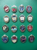 Set of 16  USSR Soviet Football Club FC Logo Badge