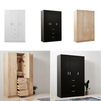 New Modern Wood Cupboard Wide 3 Door 3 Drawer Wardrobe/Bedroom Furniture/Storage