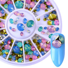 Opal 3D Nail Art Decoration in Wheel Nail Rhinestones Mix-size Sparkly Decors