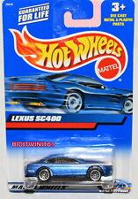HOT WHEELS 2000 LEXUS SC400 #210 BLUE W/ WIRE WHEELS