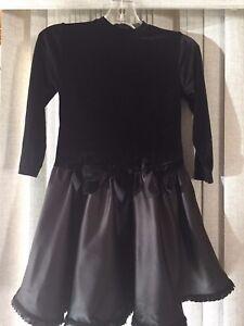 NWT Poppy Kids Girls Black Holiday Dress Size 5
