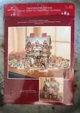 "VNTG HALLMARK COUNT DOWN TO CHRISTMAS ADVENT CALENDAR ""Christmastime Cottage"""