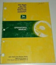 John Deere 885 Series No Till Ridge Till Row Crop Cultivator Operators Manual