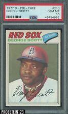 1977 O-Pee-Chee OPC #210 George Scott Red Sox PSA 10 GEM MINT