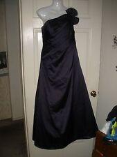 Misses Dress 10 Davids Bridal Dark Deep Purple Long Full ball Gown Wedding