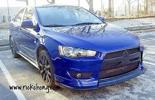 2008 TO 2015 MITSUBISHI LANCER GTS ES CUSTOM FRONT BUMPER NOSE OVERLAY X STYLE