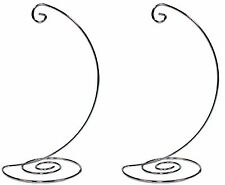 Fancy Silver Chrome Ornament Display Hanger Stands, 10 Inch Tall, Pack of 2