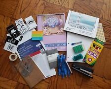 Back to School Essentials Supplies Kit Bundle Lot Grades 9-12 Notebooks Pens