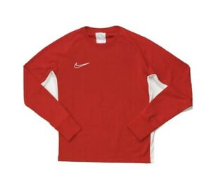 NWT Nike Academy 19 Youth Unisex Long Sleeve Crew Top Red Sz. M Free Shipping
