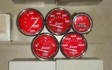 LIVORSI RED/SILVER BOAT GAUGES (Set of 5)