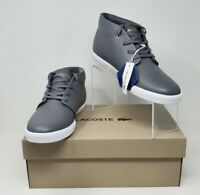 LACOSTE Asparta 319 1 P CMA LTH DK GRY/WHT Sneaker Shoes Men's Size 10.5M New