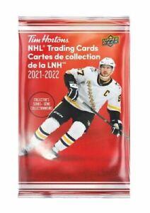 100 PACKS - 2021-22 UD TIM HORTONS NHL HOCKEY CARDS 1 FULL BOX - 100 PACKS