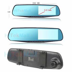 AU 4.3'' Full HD 1080P Mirror Rear View Recorder Car DVR Parking Camera G-Sensor