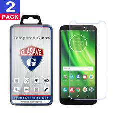 (2 Pack) GLASAVE Tempered Glass Screen Protector Film For Motorola Moto G6 Play
