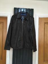 Vintage Superdry 2XL Leather Mens Jacket