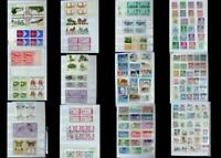 Stamp Collection Mix From United States Numbered Blocks, Blocks Ext, Free Post