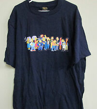 Vintage 2000 THE SIMPSONS T SHIRT XL SPRINGFIELD CHARACTERS DECAL MATT GROENING