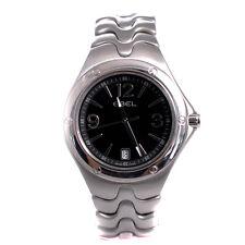 Ebel Sport Wave 9955K41 Mens Quartz Watch Black Dial Stainless Steel 39mm